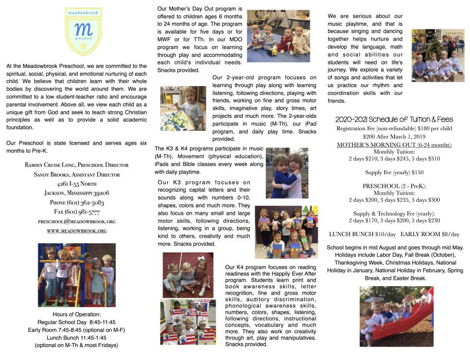 Preschool | Meadowbrook Church of Christ